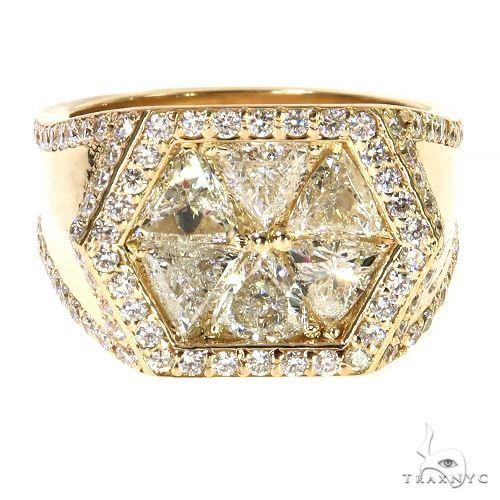 Hexagon Trillion Cut Diamond TraxNYC Ring 67336 Stone