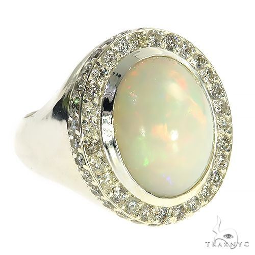 Silver Opal Ring 67338 Multicolor SAPPHIRE