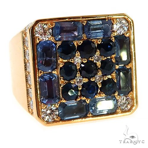 Blue Sapphire Diamond Pinky Ring 67290 67347 Multicolor SAPPHIRE