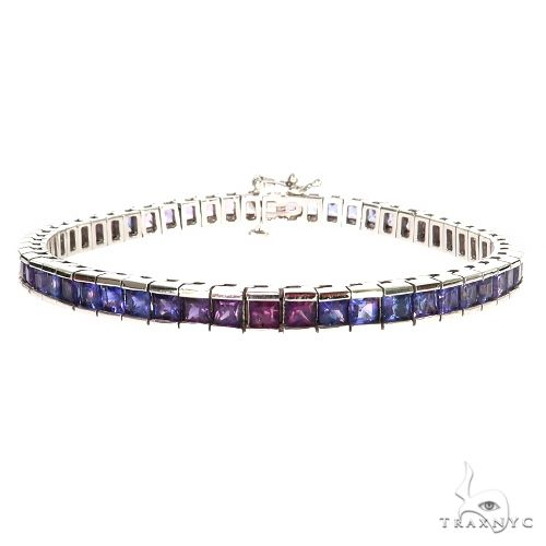 Jo Jo Baby Sapphire Princess Cut Bracelet 67352 Multicolor SAPPHIRE