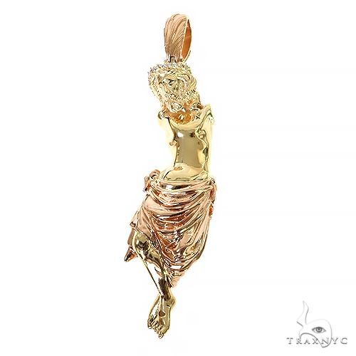 14K Gold No Arms Jesus Pendant 67359 Metal