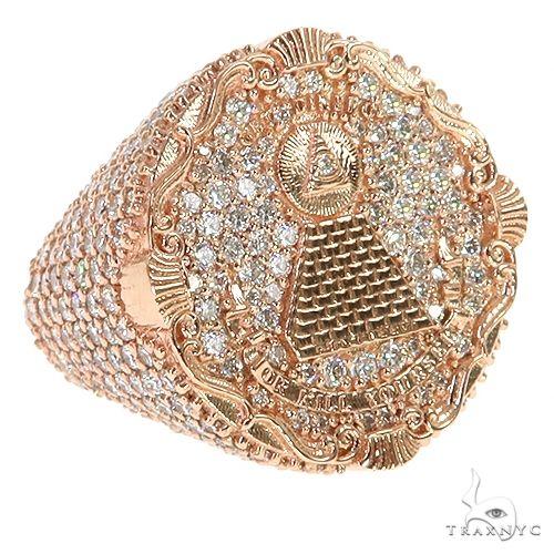 Illuminati Pyramid TraxNYC Diamond Ring 67360 Stone