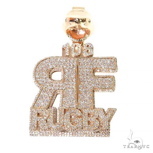 Custom Made RF Diamond Pendant 67372 Metal