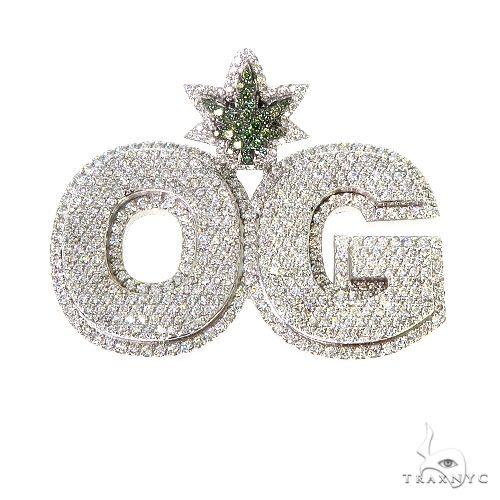 Custom Made OG Diamond Pendant 67375 Metal