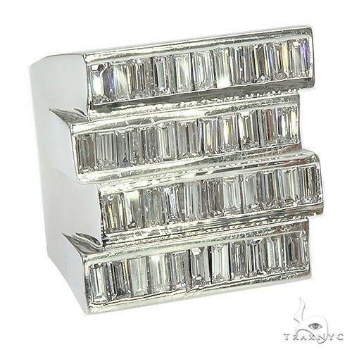 Custom Made Baguette Diamond Ring 67377 Style