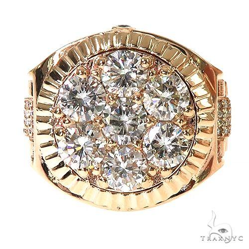 Custom Made Rolex Style Diamond Ring 67378 Stone