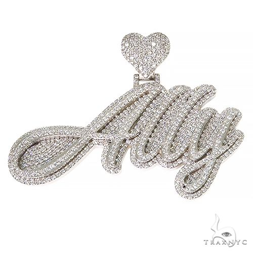 Custom Name Ally Diamond Pendant 67385 Metal