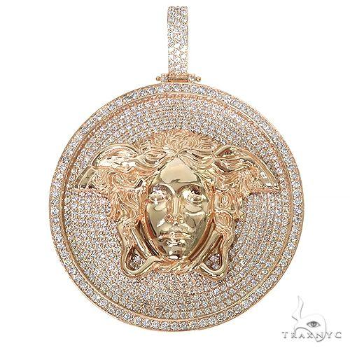 Custom Made Diamond Medusa Pendant 67386 Metal