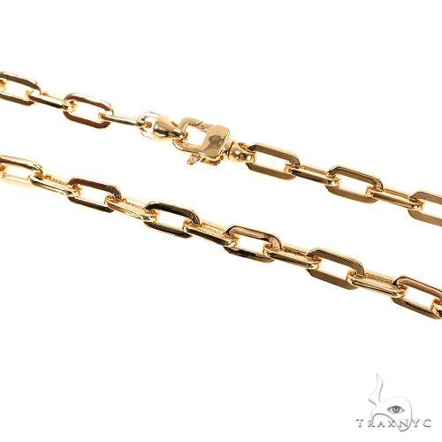 18K Gold Anchor Cable Hermes Link Bracelet 8 Inches 4mm 16.5 Grams 67401 Gold