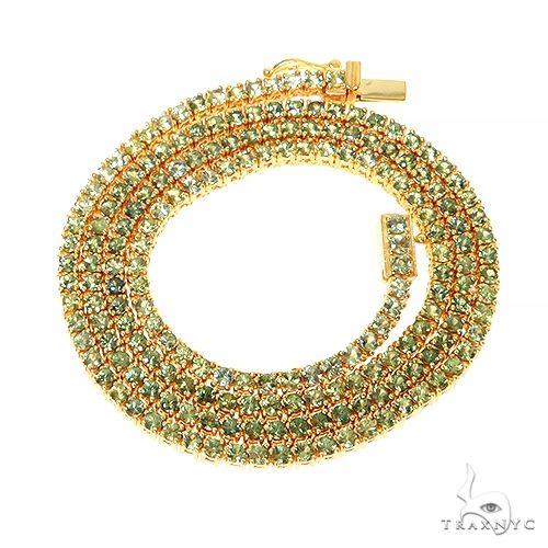 Forest Green 7 Pointer Sapphire Tennis Chain 67402 Men Specials