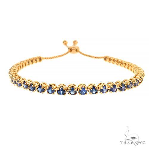 Ocean Blue Adjustable Sapphire Tennis Bracelet 67403 Multicolor SAPPHIRE