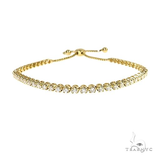 14K Yellow Gold Adjustable Diamond Bolo Bracelet 67404 Diamond