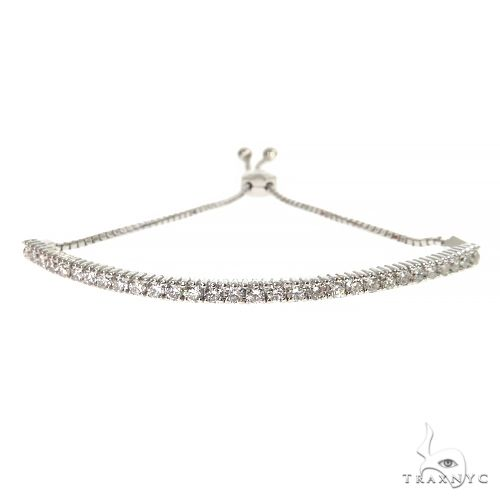 Half Way Diamond Adjustable Tennis Bracelet 67405 Diamond