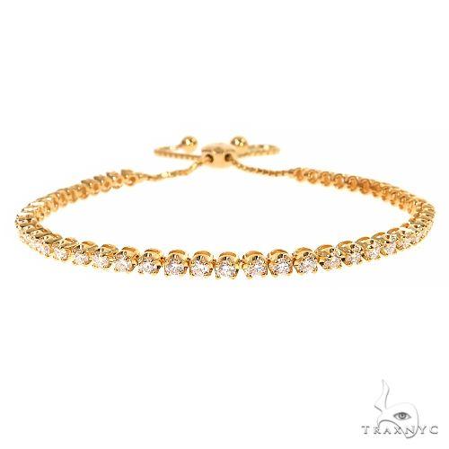 14K Yellow Gold Adjustable Diamond Tennis Bracelet 67406 Diamond