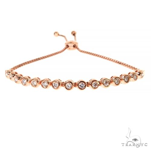 14K Gold Adjustable Diamond Bolo Bracelet 67407 Diamond