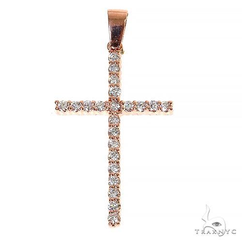 Round Cut Cross Crucifix 67416 Style