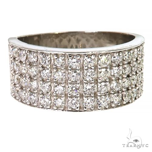 .925 Silver 4 Row Icy Ring 67427 Stone