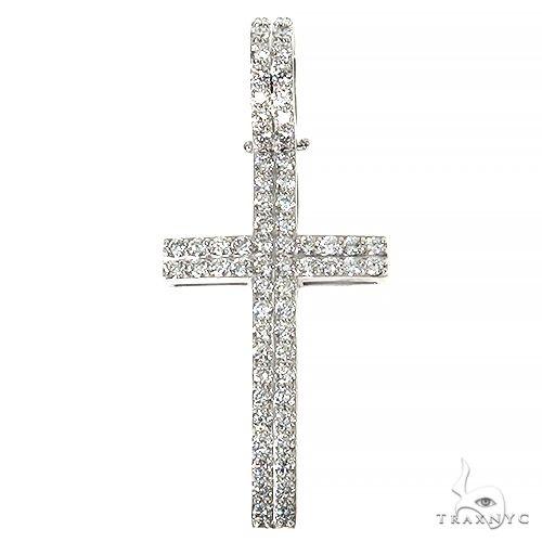 14K Gold Diamond Cross 67440 Metal