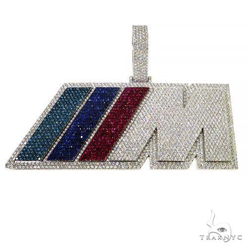 Custom Made Diamond Logo Pendant 67444 Metal