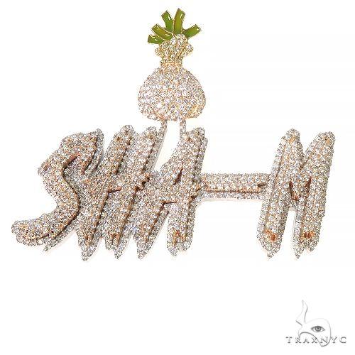 Custom Made Diamond 'SHA-M' Pendant 67446 Metal