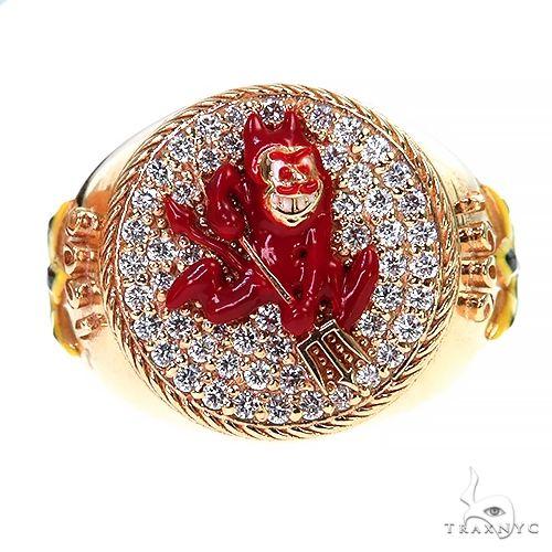 Custom Made Sun Devil Diamond Ring 67449 Stone