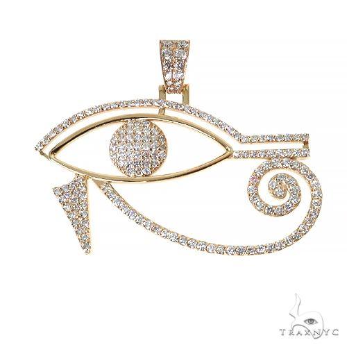 Custom Made Eye Of Horus Diamond Pendant 67452 Metal