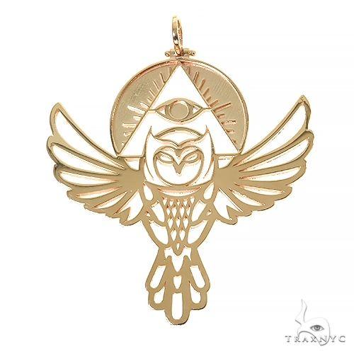 Custom Made Owl Pendant 67454 Metal