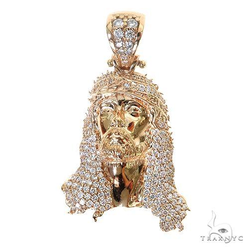 TraxNYC Jesus Head Diamond Pendant 67458 Metal