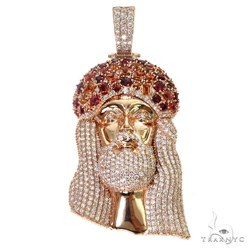 Kindle Fire Jesus Sapphire Crown Diamond Pendant 67463 Style