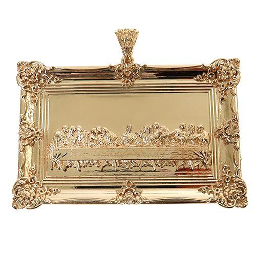 14K Gold Last Supper Large Pendant 67468 Metal