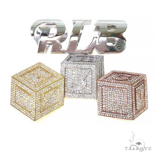 Custom Made R.L.B. 3 Block Diamond Pendant 67470 Metal