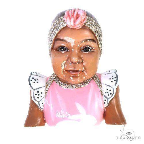 Custom Baby 3D Enamel Diamond Pendant 67476 Metal