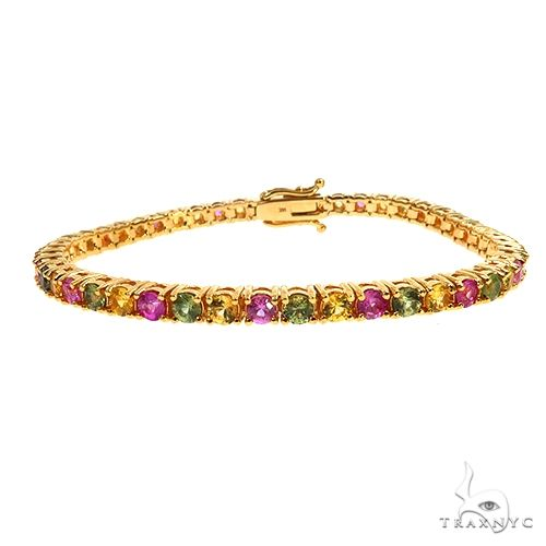 PYG 20 Pointer Sapphire Tennis Bracelet 67480 Multicolor SAPPHIRE