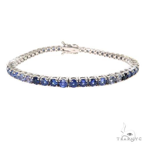 10 Pointer Water Sapphire Tennis Bracelet 67488 Multicolor SAPPHIRE