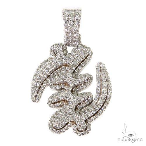 Diamond GYE Nyame Symbol Pendant 67493 Metal