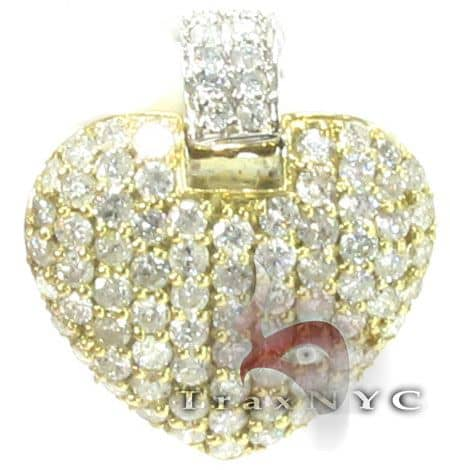 Golden Studded Heart Pendant Stone