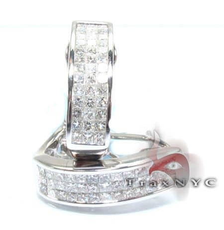 Ladies Bridge Diamond Earrings Stone