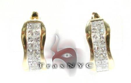 Designer Hoop Earrings Stone