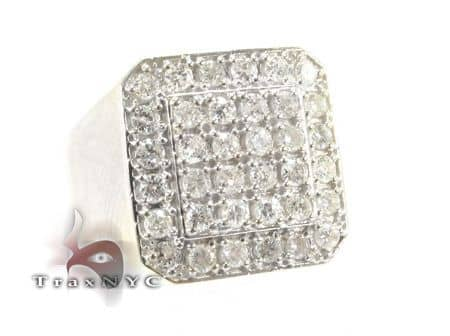 TraxNYC Light 14k White Gold Ring 8430 Stone