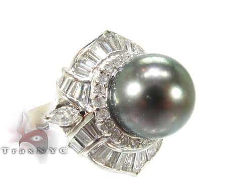 Green Pearl Focal Ring Anniversary/Fashion