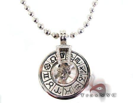 WG Spinning Horoscope Custom Pendant 9237 Metal