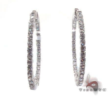 Sterling Silver Hoop Earrings 2 Metal