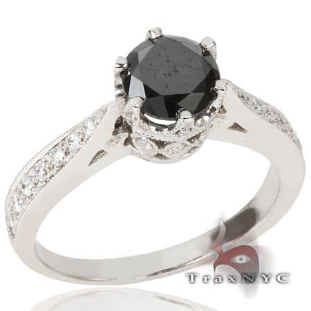 Ladies Ebony Ring 3 Anniversary/Fashion