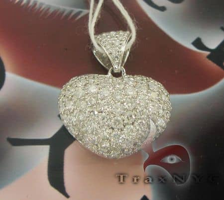White Diamond Heart Stone
