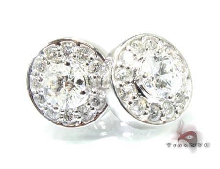 Circle Prong Earrings Stone