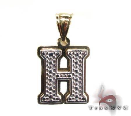Initial H Pendant Metal