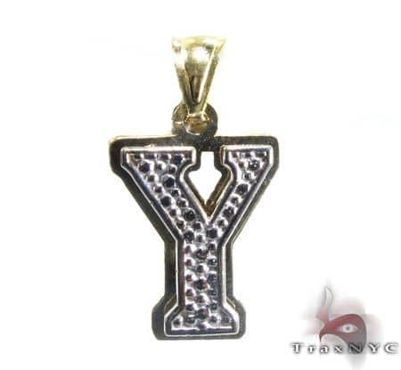 Initial Y Pendant Metal