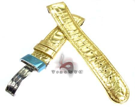 Aquamaster Gold Leather Band 20mm Watch Accessories