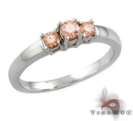 Ladies Pink Treasure Ring Anniversary/Fashion
