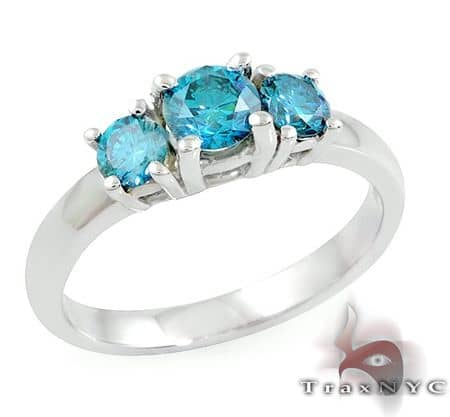 Ladies Blue Treasure Ring 2 Anniversary/Fashion